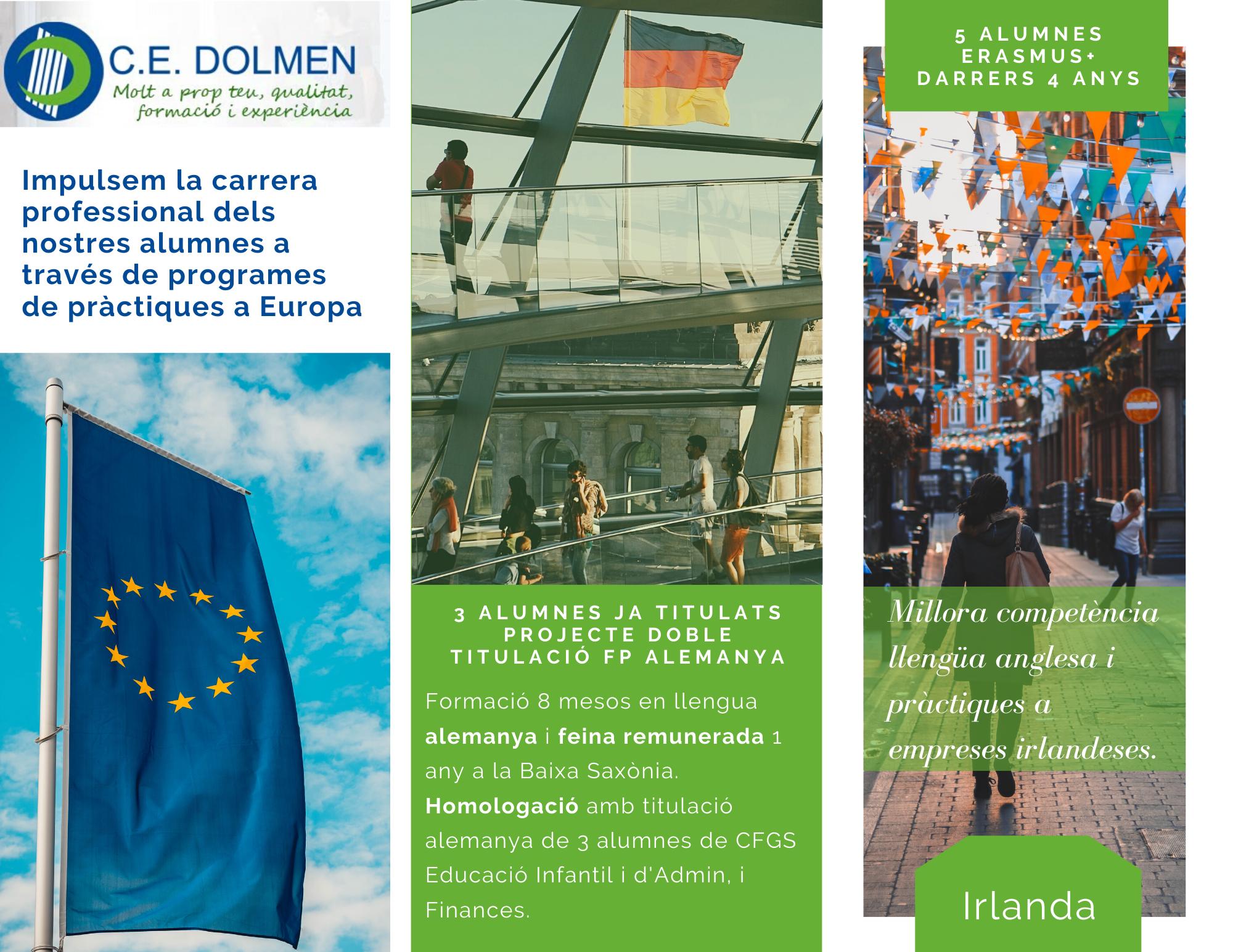 Programa Pràctiques a Europa alumnes CE DOLMEN 1